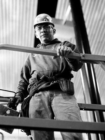 construction worker, Farmington Public Library