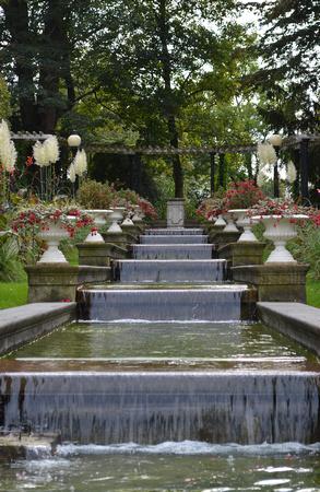 Köln (Cologne) Botanical Gardens ladder fountain. Germany