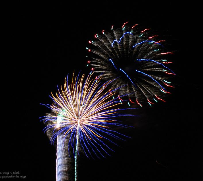 still life fireworks