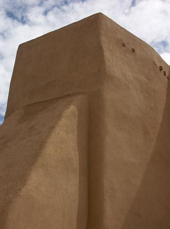 Ranchos church rear buttress view