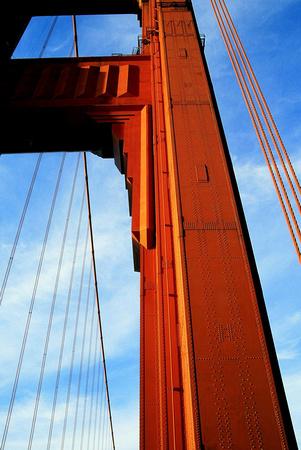 Golden Gate Bridge (detail) San Francisco, California