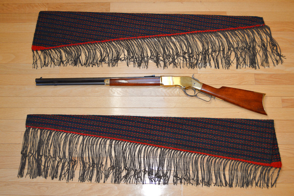 Rifle scabbards 38 and 39