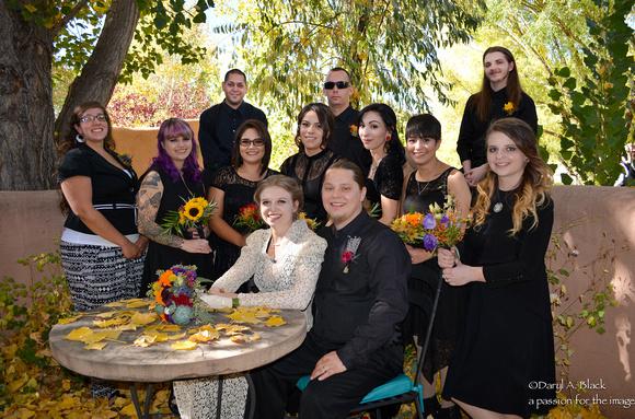 Ashley and Gene's wedding group shot