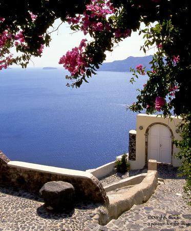 Santorini scene
