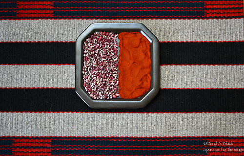 rug, beans, chile