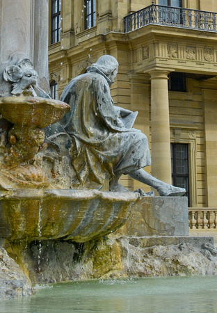 fountain, Würzburg Residence, Würzburg, Germany