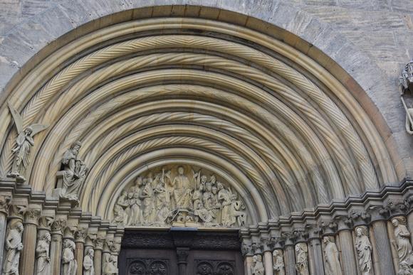 stonework above entrance, Bamberg Cathedral