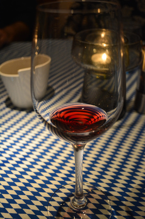 wine glass reflection, Taste of Germany night