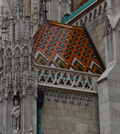 Matthias Church, Budapest, tile roof detail